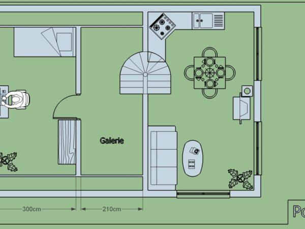 Stravby domu na klíč pudorys