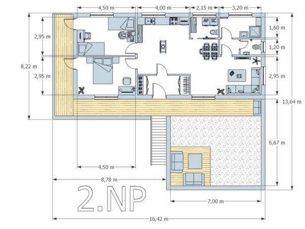 Montované domy půdorys