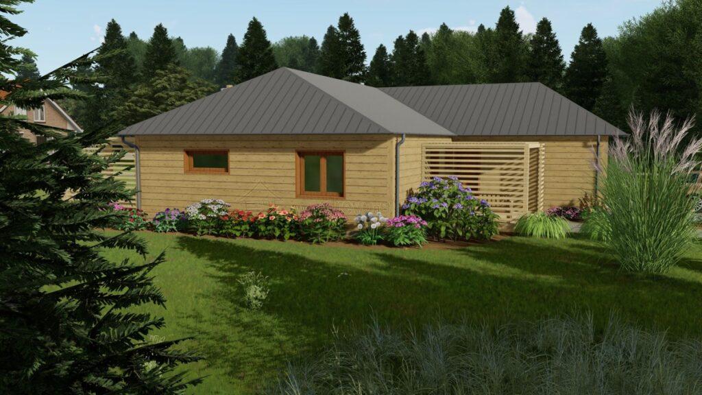 dřevostavba bungalovu